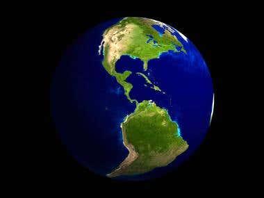 OpenGL Globe Screensaver