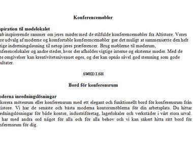 Danish To Swedish Translation