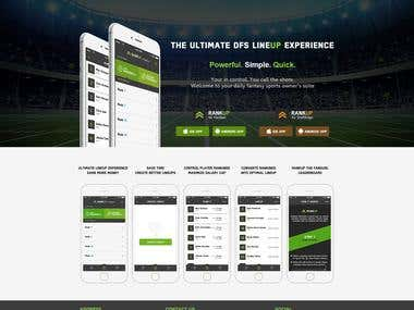 App landing Page (PSD to HTML)