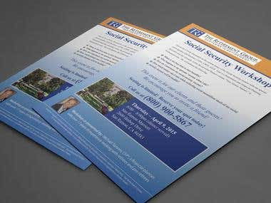 Flyer design for TRG Retirement group