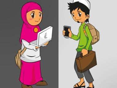 Moslem Teenager