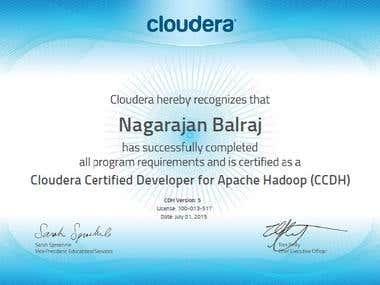 Hadoop Developer certification