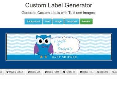Custom Label Generator