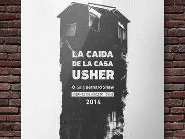 La caida de la casa Usher, play poster
