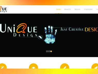 Web development and design for my client.