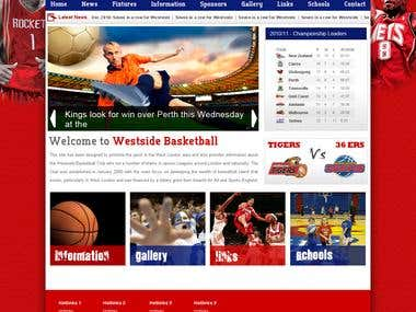 Sport Website Design and Development