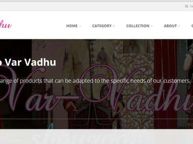 Var vadhu showroom a E-commerce Site