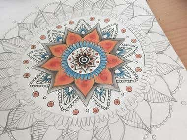 Mandala ad acquerelli