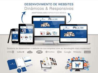 Development Responsive and Dynamic Website with Professional