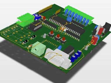 Design the PCB board using Altium