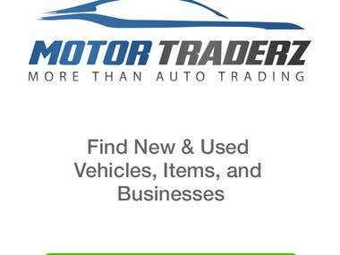 Motor.Traderz Mobile Application for Android/IOS