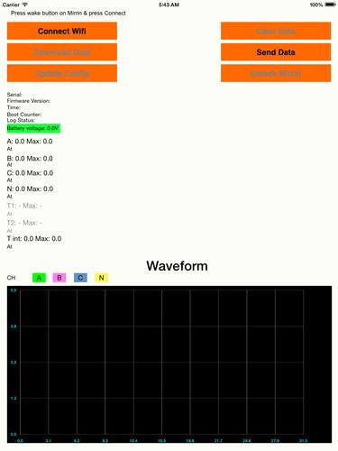 iOS Data Logger App for Custom Device