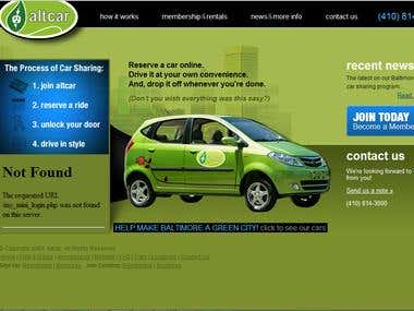 Altacar Website (Reserve a car online )