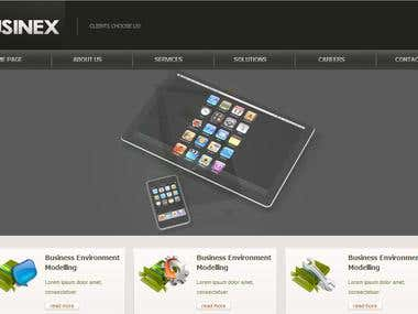 Businex - PSD to HTML Conversion