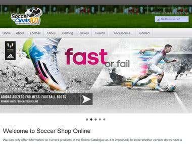 Soccer Shoes Website