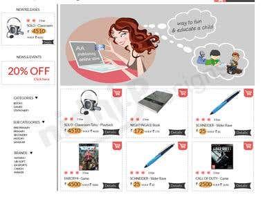 Photoshop web Layout,Website design