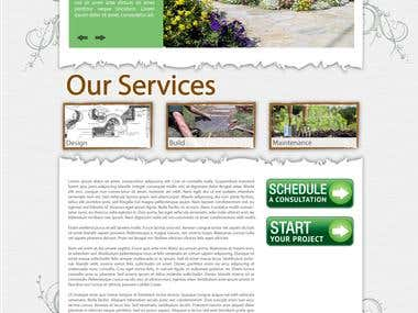 Landscape WP Theme Design (Homepage)