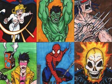 Convention sketch cards