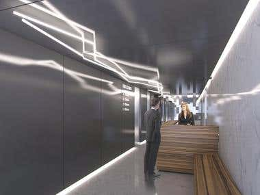 lobby 3d visualization