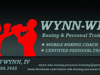 Wynn-win boxing business card