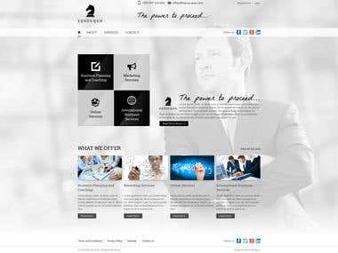 Web site design of a home page for consulting firm EQUUS QUO
