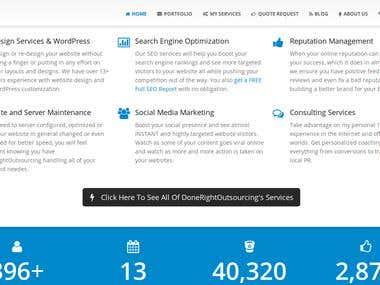 Total complete design using Wordpress 100% custom