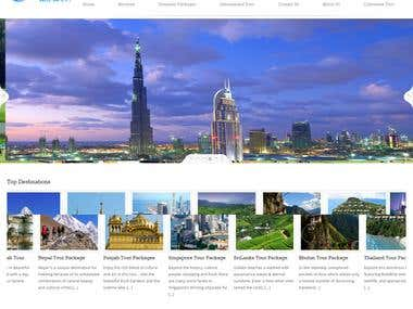 Travel website in  HTML
