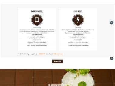 Its a chocolate cafe website with Parallax theme.