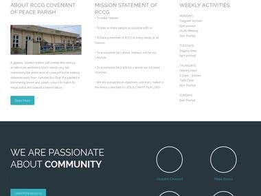 Website for Redeem Christian Church of God, COP Parish.