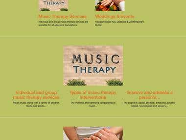 Therapy music web site