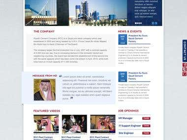 Riyadh Cement Website (Multi-Lingual)