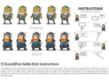 ScandiPow Selfie Stick Instructions