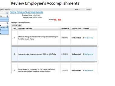 Performance Appraisal Management System