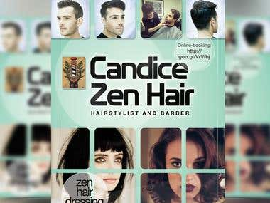 Candice Zen Hair - Graphic designer needed for flyer layout