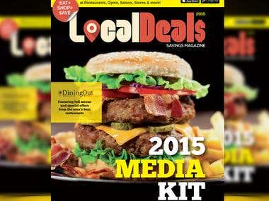 Local Deal Media Kit/Magazine Masthead and Cover redesign