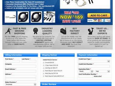 Landing page design concept PSD
