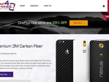E-Commerce Website for Phone Wrap Sales