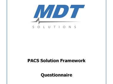 PACS Solution Framework Questionnaire made for MDT Solutions