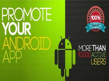 Promote Your Android And iTune App With Best Cheap Price.