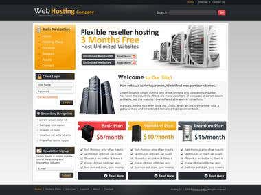 Template Design  - Web Hosting