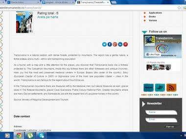 Website translation: Romanian into English