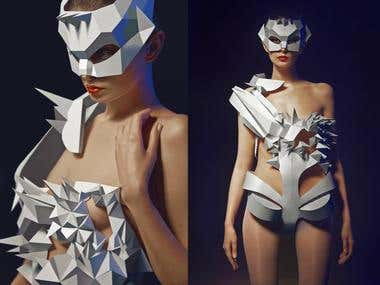 Paper prototype of a dress