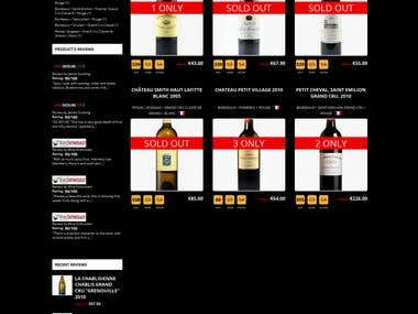 a high customized magento site for wine seller