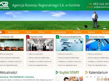 Website for government institution