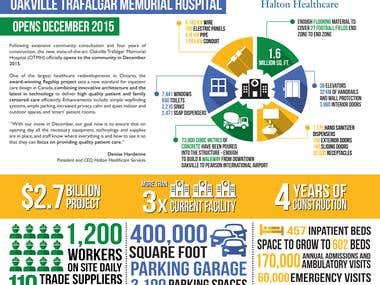 Modern, Flat Styled Infographic for Hospital Expansion