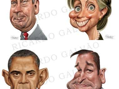 Politicians Caricatures