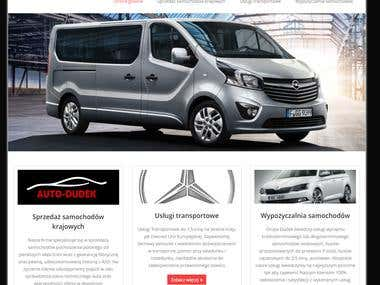 Website created for Polish transport company.