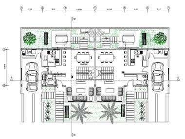 Row House\'s 2D Floor plan
