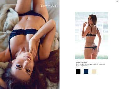 Fashion shooting and catalog layout