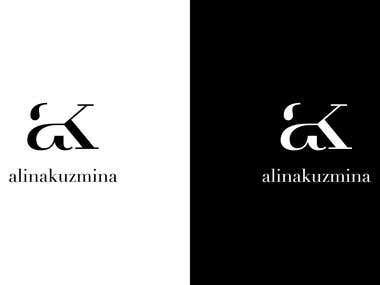Logo project 2 // AK / Alina Kuzmina